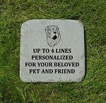 Shar Pei Memorial Stone 12x12 Pet Shar Pei Headstone